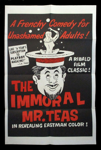The Immoral Mr. Teas one sheet Russ Meyer 1959