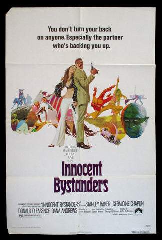Innocent Bystanders one sheet 1972 Robert McGinnis