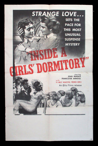 Inside A Girls's Dormitory one sheet movie poster 1953