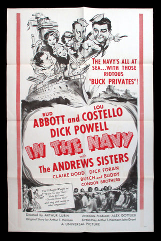 In The Navy one sheet Abbott and Costello