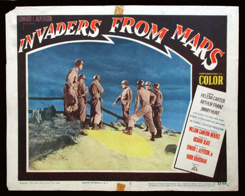 Invaders From Mars lobby card 1953 sci-fi