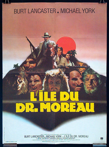 The Island of Dr. Moreau French movie poster