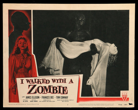 I Walked With A Zombie lobby card #2 1956rr horror