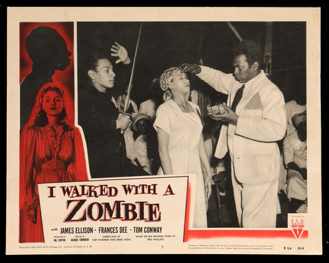 I Walked With A Zombie lobby card #5 1956rr horror