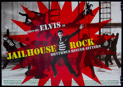 Jailhouse Rock German movie poster Elvis Presley