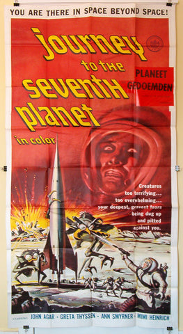 Journey To The Seventh Planet three sheet AIP sci fi 1961