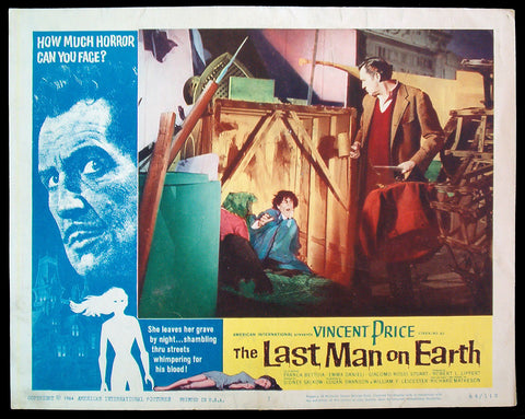 The Last Man On Earth lobby card 1964 Vincent Price