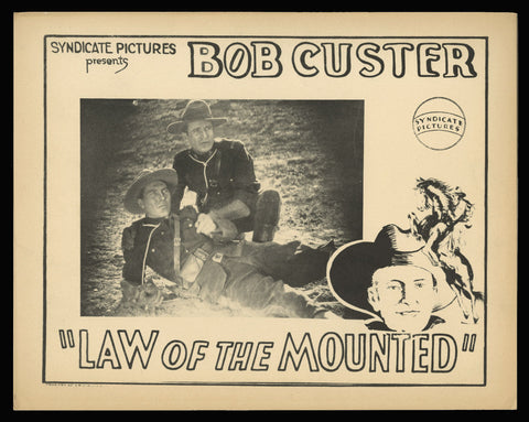 Law of the Mounted lobby card 1928 RCMP mounties