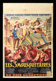 Three Musketeers Belgian movie poster 1953