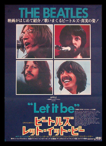 Let It Be Japanese poster 1970 The Beatles