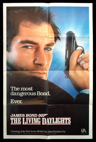 The Living Daylights teaser one sheet 1987 James Bond 007