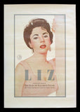 Liz: The Films of Elizabeth Taylor festival poster Paul Davis art