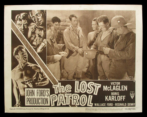 The Lost Patrol lobby card Karloff