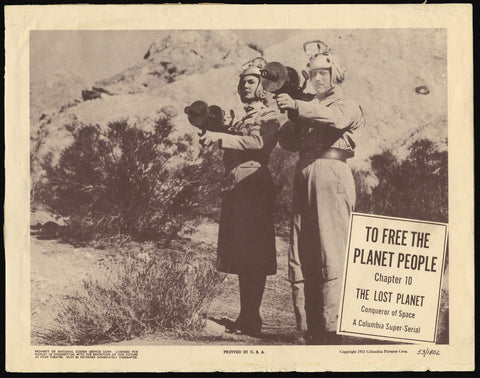 The Lost Planet movie serial lobby card 1953 sci-fi