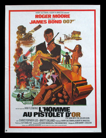 The Man With The Golden Gun French movie poster James Bond 007