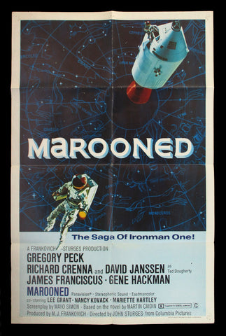 Marooned Style B one sheet 1969 sci fi