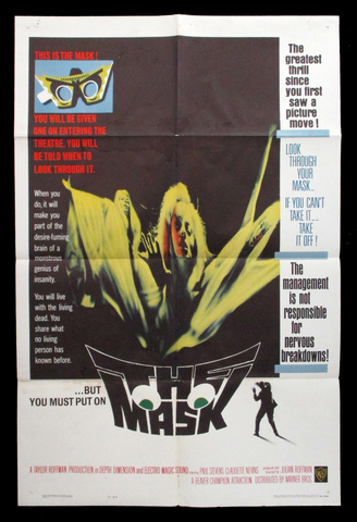 Tha Mask one sheet movie poster 1961