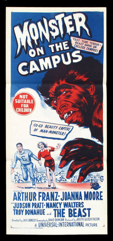 Monster On The Campus Australian daybill 1958 Universal