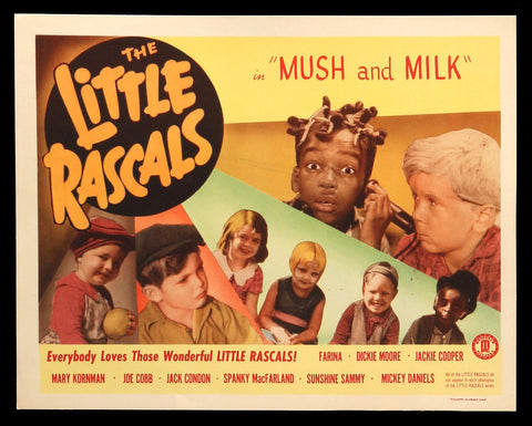 Mush and Milk lobby card The Little Rascals Our Gang 1