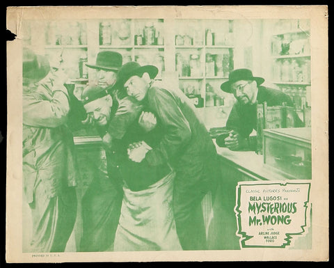 The Mysterious Mr. Wong lobby card Bela Lugosi 2