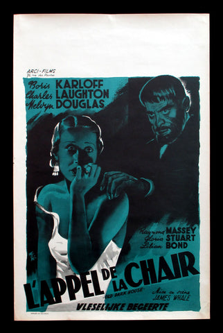 The Old Dark House Belgian 1960s Boris Karloff James Whale