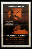 Play Misty For Me one sheet Clint Eastwood 1971