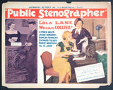 Public Stenographer title card 1934 Lola Lane