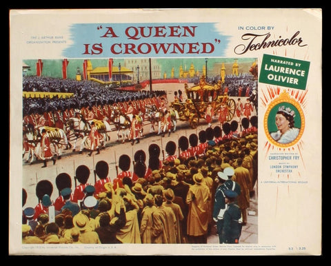 A Queen Is Crowned lobby card 1953 Elizabeth II