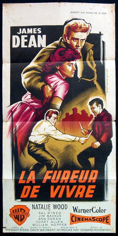 Rebel Without A Cause French poster James Dean 1955