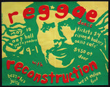 Reggae with Reconstruction gig poster 1975