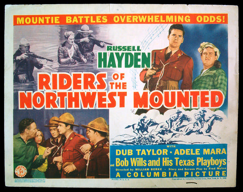 Riders of the Northwest Mounted title card 1943 RCMP Mounties