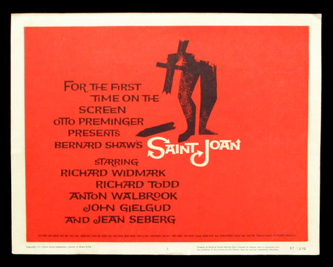 Saint Joan title card Saul Bass