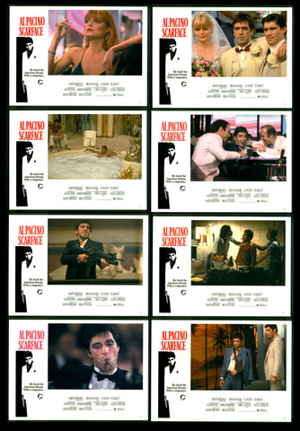 Scarface mini video lobby card set Pacino De Palma