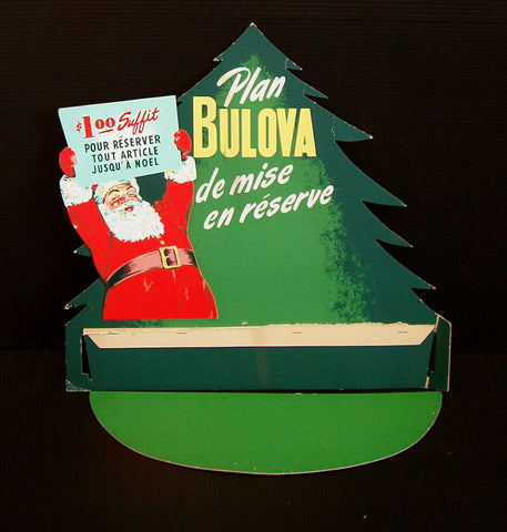 Bulova Watches advertising standee