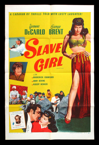 Slave Girl one-sheet movie poster Yvonne De Carlo