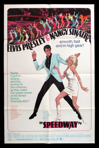 Speedway one sheet 1968 Elvis Nancy Sinatra Robert McGinnis