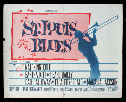 St. Louis Blues half-sheet 1958 Nat King Cole