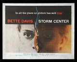 Storm Center half sheet 1956 Bette Davis Saul Bass