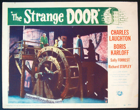 The Strange Door lobby card 1951 Universal horror Karloff