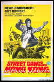 Street Gangs of Hong Kong one sheet 1974 kung fu martial arts