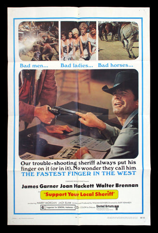 Support Your Local Sheriff one sheet 1969 James Garner western