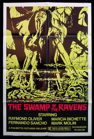 Swamp of the Ravens one sheet 1974 horror