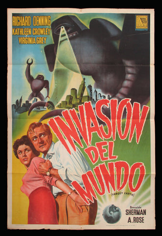 Target Earth Argentinean one sheet 1954 sci-fi
