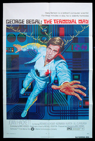 The Terminal Man one sheet 1974 sci-fi