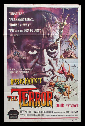 The Terror 1963 US one sheet Boris Karloff
