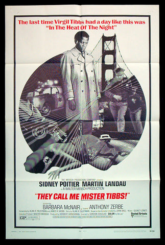 They Call Me Mister Tibbs one sheet 1970