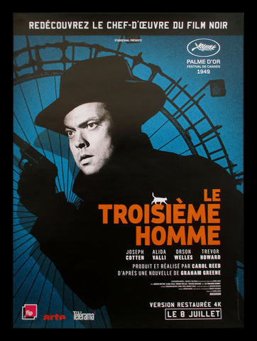 The Third Man French poster Orson Welles film noir
