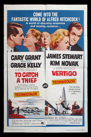 To Catch A Thief Vertigo one sheet Hitchcock
