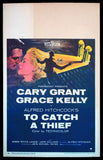 To Catch A Thief window card 1955 Hitchcock Cary Grant Grace Kelly