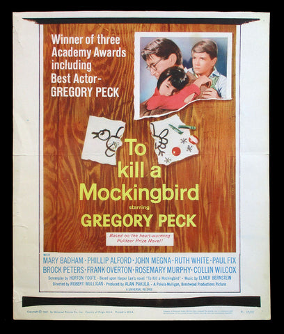 To Kill A Mockingbird window card poster